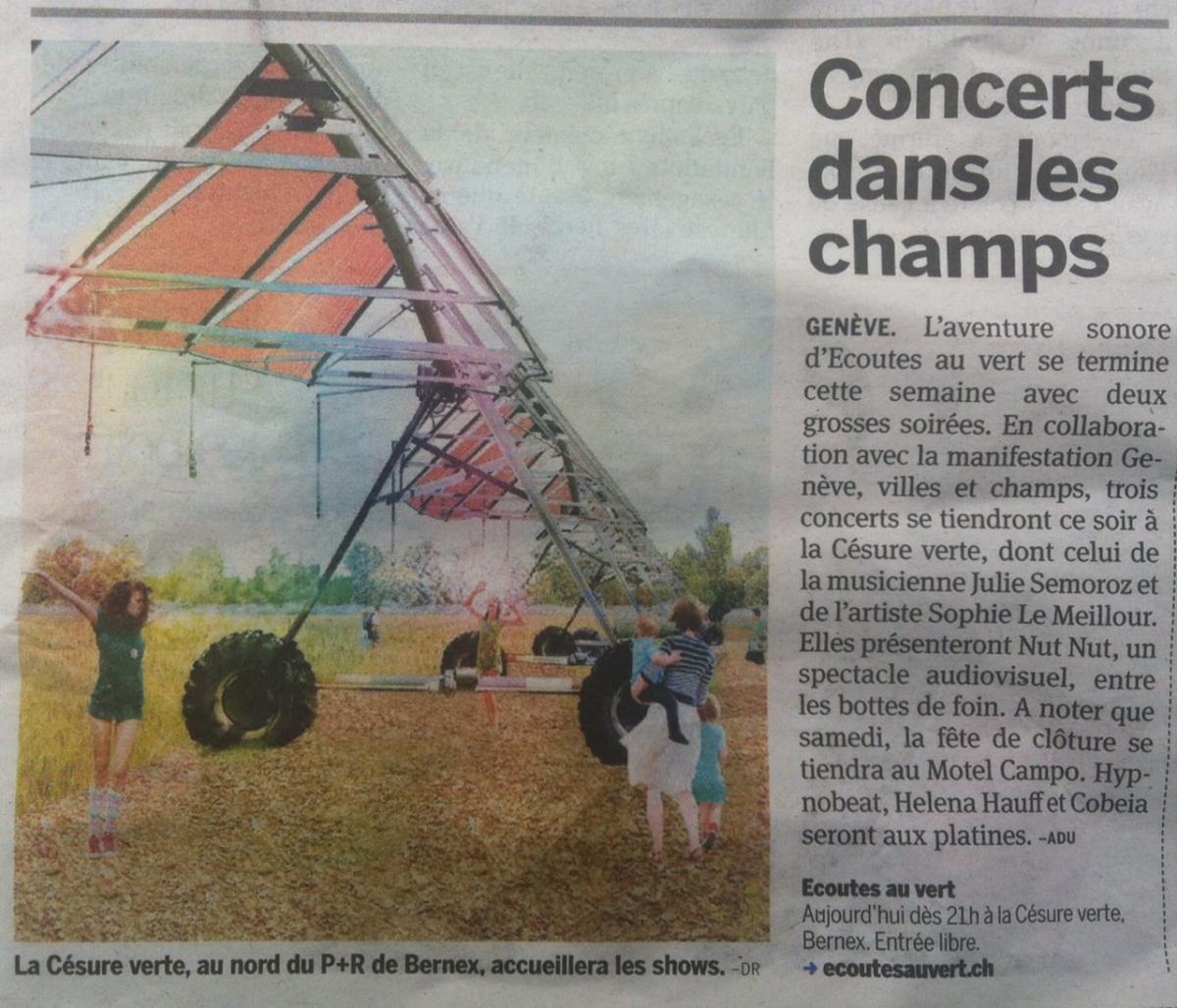 Ecoutes Au Vert / Genève / Aventures sonores au grand air! / <em>Modifier Page de base</em> Presse