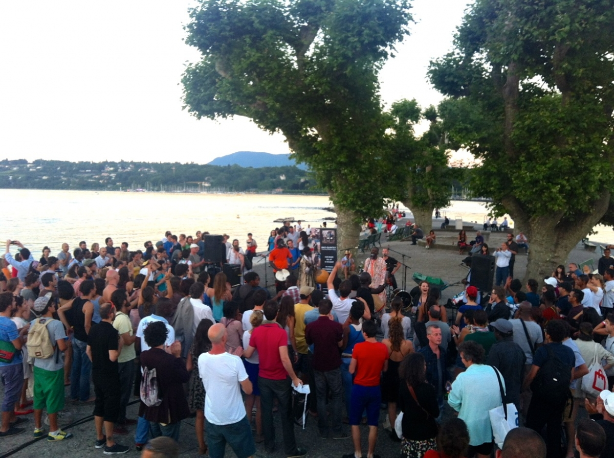 Ecoutes Au Vert / Genève / Aventures sonores au grand air! /  ECOUTES AU VERT aux BAINS DES PAQUIS: BKO QUINTET Concert Tradi-Moderne du Mali + COBEIA (Ecoutes au vert)  / 1496079901